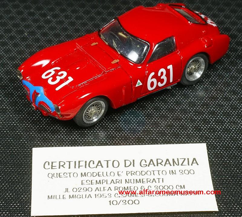[1953] 6C 3000 CM Mille Miglia ( 1/43 ) « Alfa Romeo Model