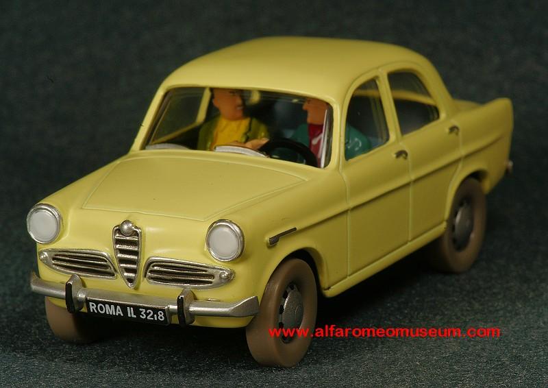 1956 Giulietta Berlina Tintin Edition 143 Alfa Romeo Model