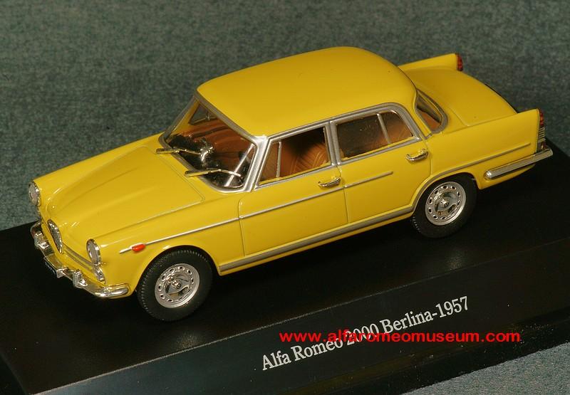 [1957] 2000 Berlina (1/43 ) | Alfa Romeo Model Car Museum