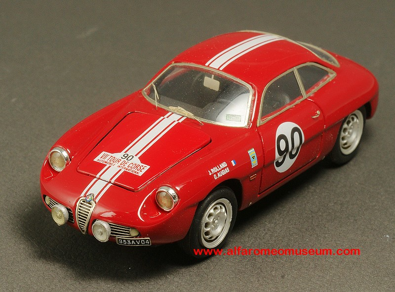 1960 Giulietta Sz Sprint Zagato Tour De Corse Open