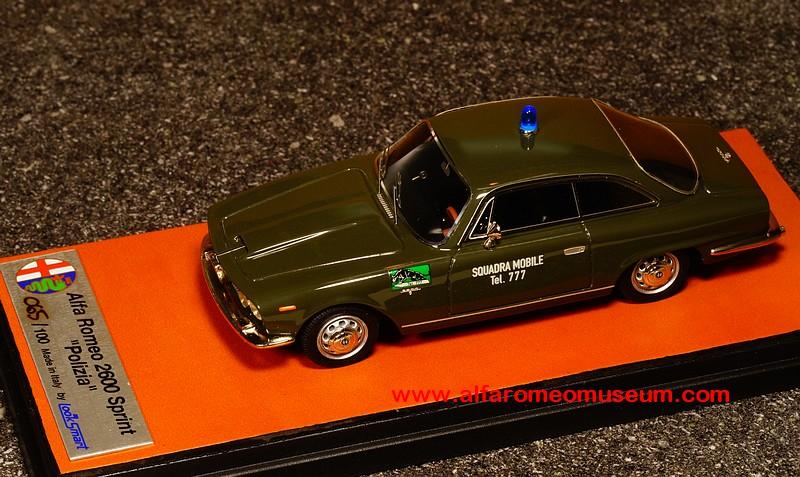 ALFA ROMEO 2600 SPRINT 1964 SQUADRA MOBILE SCALA 1\43