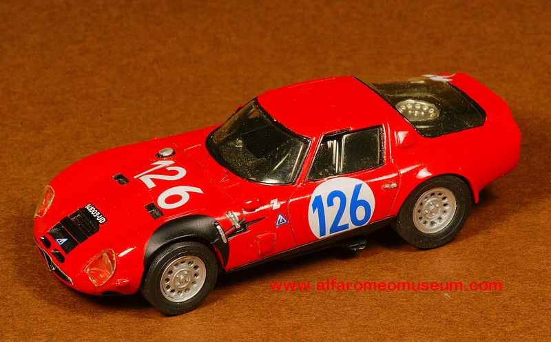 [ 1965 ] Giulia TZ2 - No 126 ( 1/43 ) « Alfa Romeo Model Car Museum