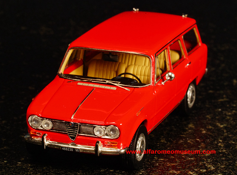 1967 giulia super giardinetta 1 43 alfa romeo model car museum. Black Bedroom Furniture Sets. Home Design Ideas