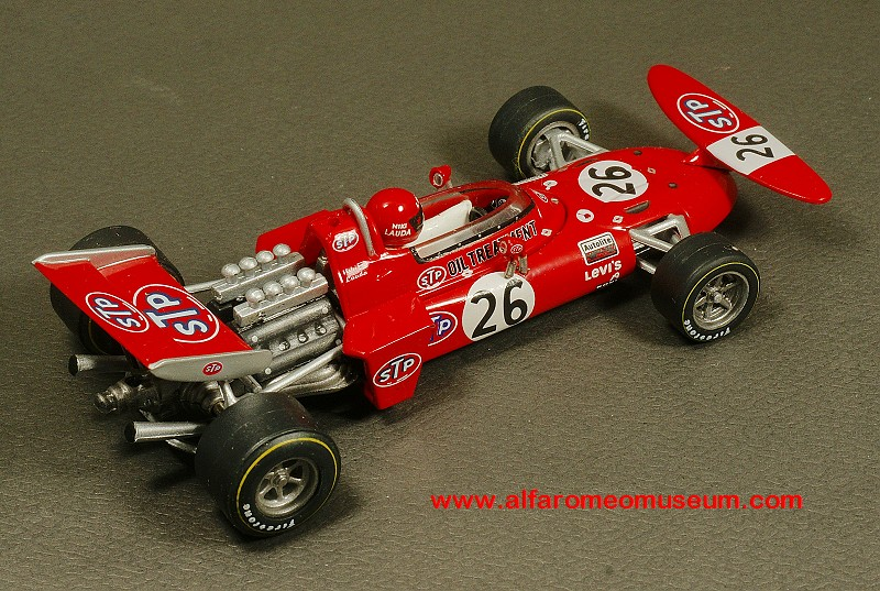 [1971] March 711/4 STP No. 26 - Niki Lauda - Austrian GP ( 1/43 ) « Alfa Romeo Model Car Museum