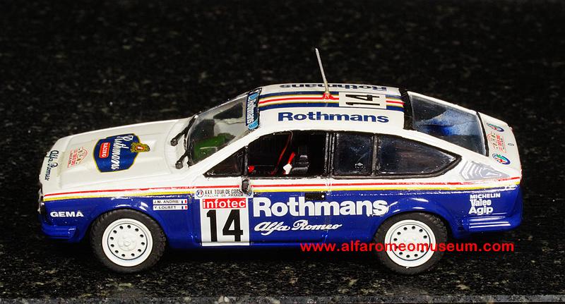 Ar Alfetta Gtv Rothmans Tour De Corse Sc on Alfa Romeo Spider 1988