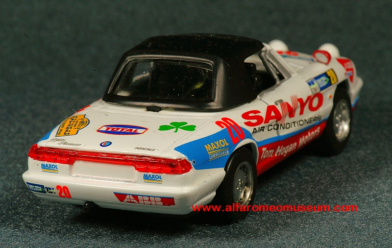 [1992] Spider IV Veloce - Sanyo Racing ( 1/43 ) « Alfa Romeo Model Car Museum