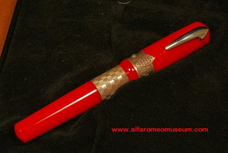 Pen Delta Alfa Romeo Giulietta Fountain Pen Red Alfa Romeo
